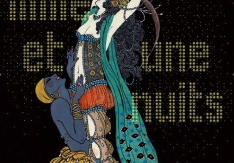 "Ida Rubinstein and Vaslav Nijinski by George Barbier (1913) for the Diaghilev Russian ballet ""Shéhérazade"" poster"