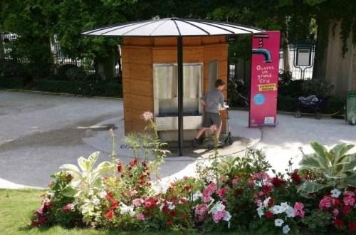 Jardin de Reuilly Sparkling Water Fountain in Paris (eau petillante)