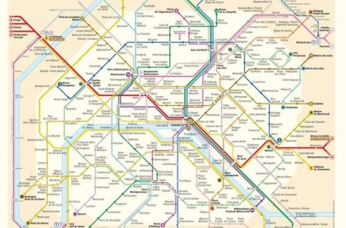 Map of RER, Metro and Tramway from the