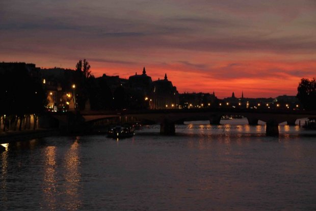 Sunset from the Pont des Arts in Paris