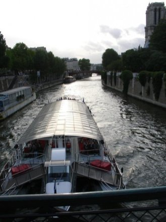 View from a bridge over the Seine