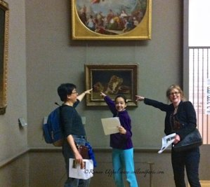 "Michelle, Raina and Colleen, the ""Winning Witches"" finally finding the small, elusive Goya on our THATLou treasure hunt"