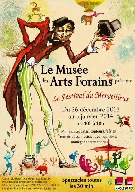 Musée des Arts Forains poster for Le Festival du Merveilleux 2013