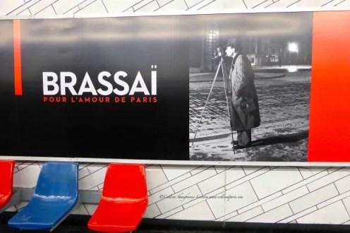 Brassai poster in the metro