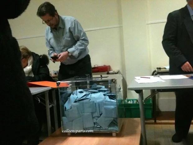 Box of voting envelopes