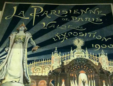 La Parisienne, over the entryway to the exposition universelle 1900
