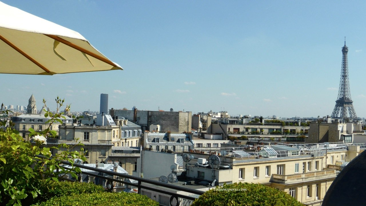 Eiffel Tower from Hotel Raphael La Terrasse Bar Paris