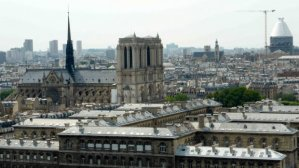 View of Notre Dame and Pantheon from Tour Saint Jacques