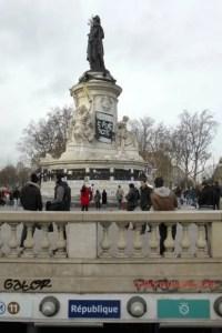 Metro entrance at Place de la Republique