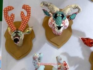 Trophy heads in patchwork anne valerie dupont Aiguille en Fete