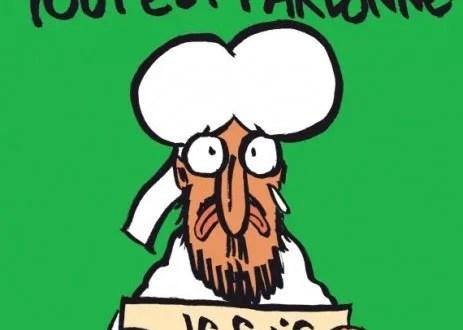 Wednesday Jan 14 cover of Charlie Hebdo one week after killings
