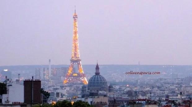 Terrass'Montmartre view Eiffel colleensparis