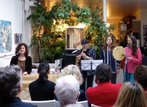 Gabriela Arnon performing at Dorothy's Gallery