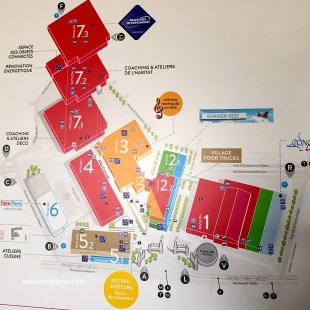 Foire Paris 2015 map