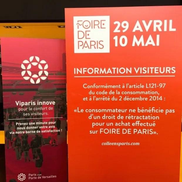 Foire Paris 2015 no returns