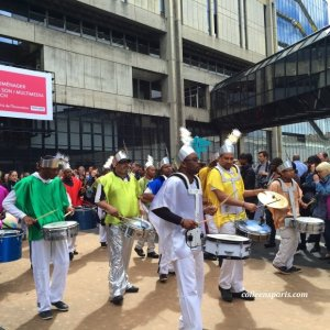Drummers in the Tropical parade