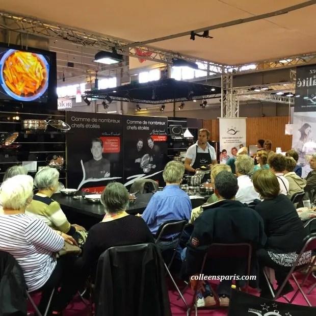Foire Paris cooking demonstration