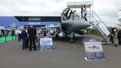"French Rafale - since it flew over Mali the French can advertise ""Combat Proven"""