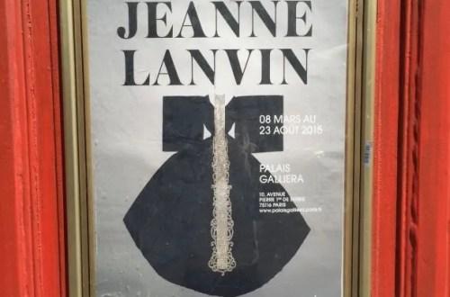 Jeanne Lanvin exhibition poster along rue Saint-Sabin