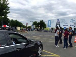 Taxi stand at Paris Air Show