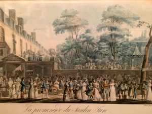 "Illustration ""La promenade du Jardin Turc"" along the boulevard du Temple"