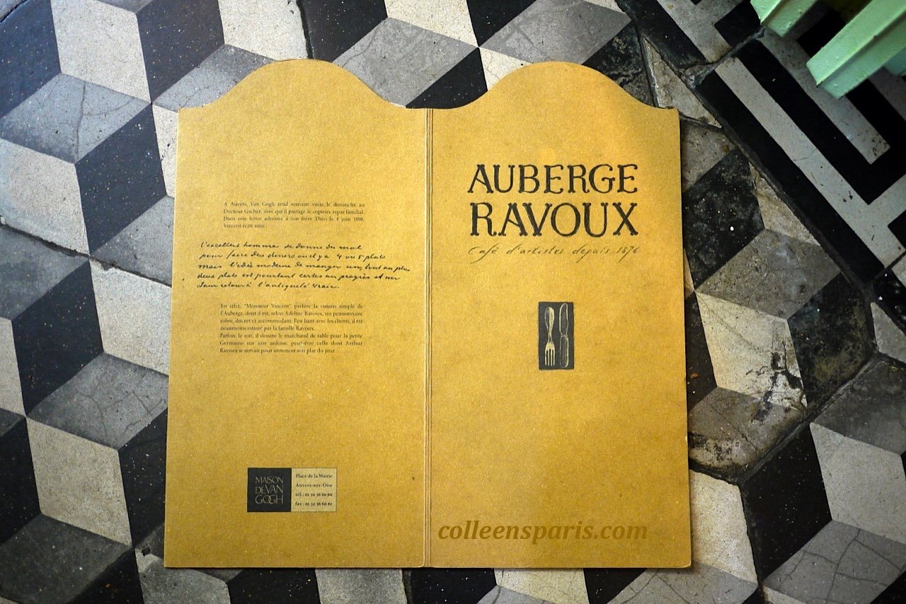 X0002 Auvers Auberge Menu