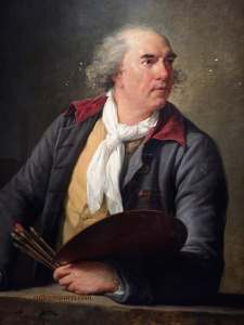 Portrait of Hubert Robert (1788) Well-known, landscape painter, Hubert Robert, painted in Moulin-Joli. Personal friend and advisor to Madame Le Brun, escorted her at his peril to the gates of Paris when she fled France in October 1789.