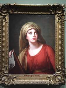 Lady Hamilton as the Sibyl of Cumes (1792) Madame Le Brun kept this portrait after the person who ordered the painting died. She used the work as her calling card along her Grand Tour