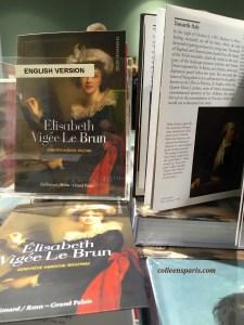 English books available at Grand Palais exhibit Vigee Le Brun, Paris