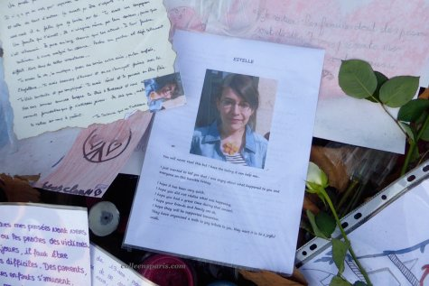 Bataclan memorial and poem for Estelle