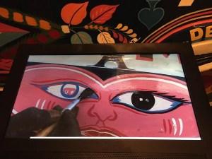 """Painting the """"car rapide"""" Bonne Mère located now in the Musée de l'Homme"""