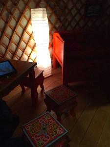 Modern rice lamp - yurt at Musée de l'Homme