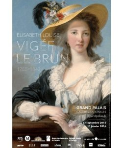 Poster for Vigée Le Brun exhibition Grand Palais, Paris