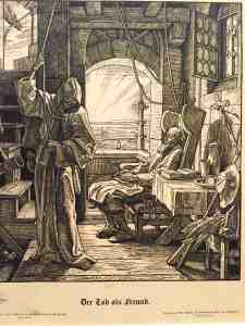 Alfred Rethel (1816-1859) La Mort comme amie, 1851 - Death as a friend (I'm ready, let's go)