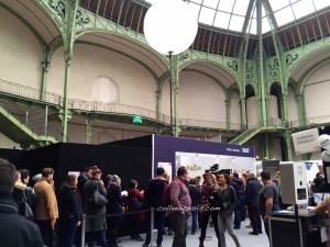 Waiting line at Salt for chef's menu tasting Grand Palais Taste of Paris 2016