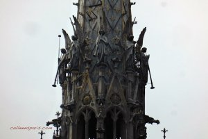 Angels on the steeple of Sainte-Chapelle