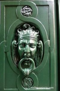Door detail at the MAHJ - musée d'art et d'histoire du judaisme
