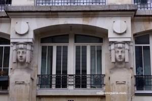 rue de Bretagne façade Egyptian Art Nouveau?