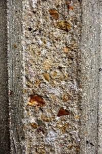 Detail of column (hammered concrete to reveal contents) Social & economic council, former Museum of Public Works, avenue d'Iena