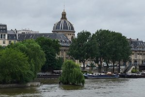 The flood waters were still receding three weeks after the Seine reached highest levels since 1982, Ile-de-la Cité and Institut de France in the background