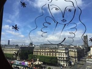 BHV/Marais view from fifth floor corner, Paris
