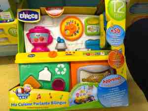 photo of Chicco the bilingual kitchen with over fifty songs, jingles, counting exercises, and sound effects
