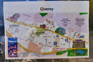 Map of Giverny at tourist office