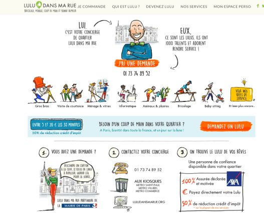 Lulu dans ma rue homepage for help at home Saint-Paul, Villiers and Commerces areas