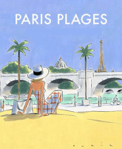 Poster for Paris Plages 2017 from Seine Saint-Denis Office of Tourism