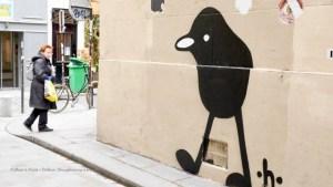 Paris Street Art April 2018; Lady with the Street Art Paris book