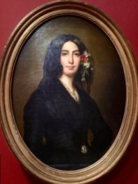 Painting of George Sand, Auguste Charpentier, 1838