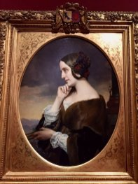 Painting of Marie de Flavigny, comtesse d'Agoult (aka Daniel Stern), Henri Lehmann, 1843