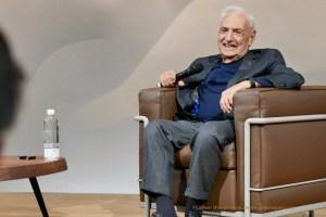 Frank Gehry Fondation Louis Vuitton conversation with Jean-Louis Cohen