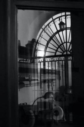 Reflection in a passageway near Palais Royal